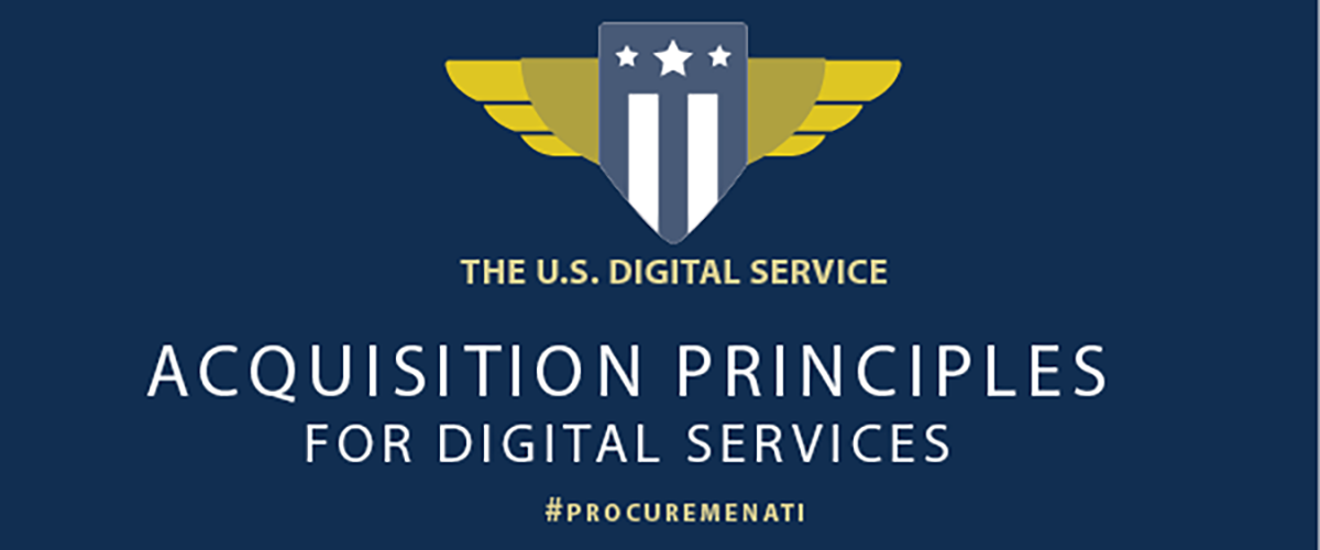 The US Digital Service Acquisition Principles for digital service procurements, #procuremenati